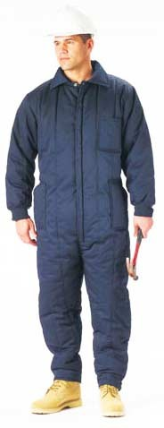 Mens Insulated Military Coverall - Navy