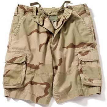 Kids Vintage Tri Color Desert Camo Cargo Shorts