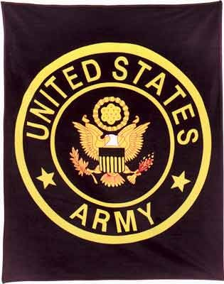 U.S. Army Military Insignia Fleece Blanket