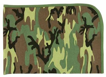 Woodland Camo Infant Receiving Blanket
