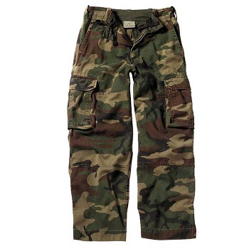 Kids Woodland Camo Vintage Paratrooper Fatigues