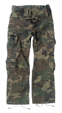 Vintage Woodland Army Cargo Pants