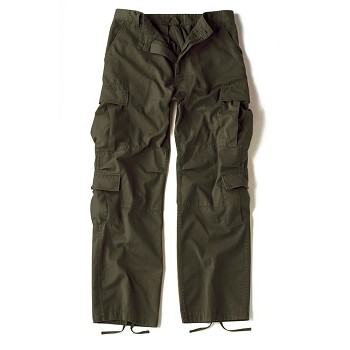 Vintage Olive Drab Army Cargo Pants