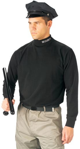 Black Security Mock Turtleneck