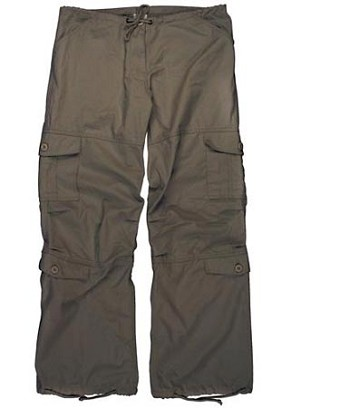 Brown Vintage Womens Cargo Pants