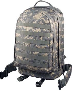 Army Digital Camo MOLLE Compatible 3 Day Military Assault Pack