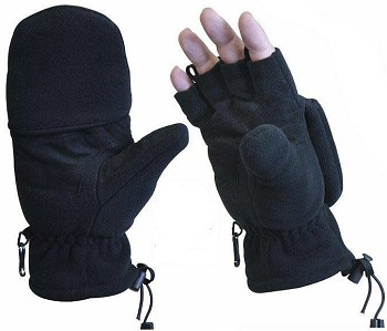 Black Fleece Fingerless Sniper Glove/Mitten