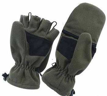 Olive Drab Fleece Fingerless Sniper Glove/Mitten