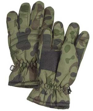 Kids Woodland Camo Thinsulate Gloves