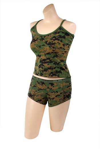 Womens Digital Woodland Camo Tank Top