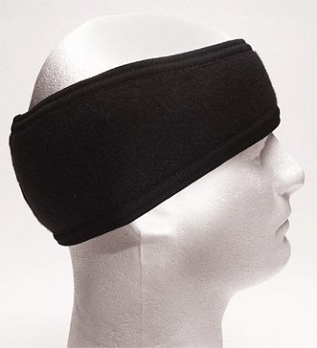 G.I. Plus Black 2-Ply Polypropylene Headband