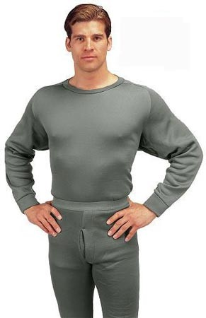Military Thermal Underwear Foliage Crew Neck Top