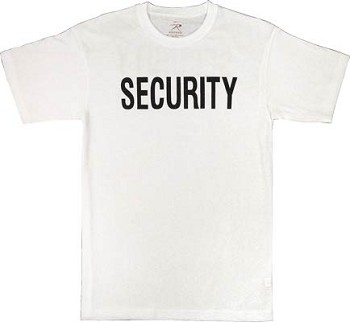 White Security 2-Sided T-Shirt