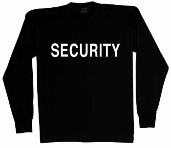 Security Black 2-Sided Long Sleeve T-Shirt