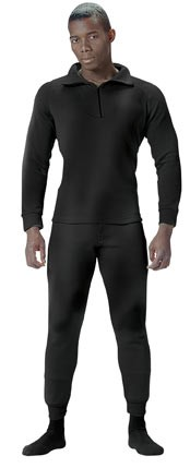 Military Black Heavyweight Thermal Shirt