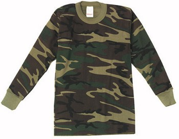 Kids Camo Thermal Knit Top