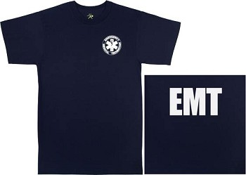 Navy Blue 2-Sided E.M.T. T-Shirt