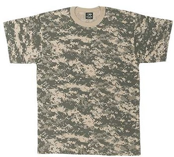 Army Digital Camo Military Tee shirt