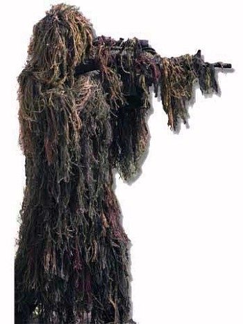 Woodland Camo Ghillie-Flage Ready to Wear Ghillie Suit