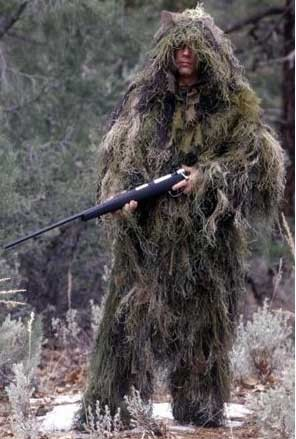 Ultra Light Woodland Camo Ghillie Jacket and Pants Set