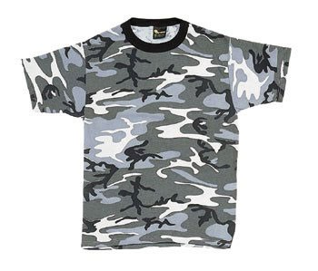 Urban Camouflage Men's Military Tee Shirt