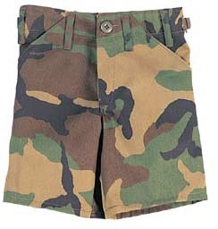 Kids Woodland Camouflage BDU Shorts