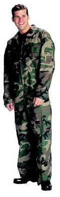 Woodland Camouflage Military Flightsuit