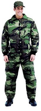Mens Insulated Military Coverall - Camo