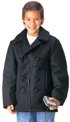 Kids US Navy Peacoat