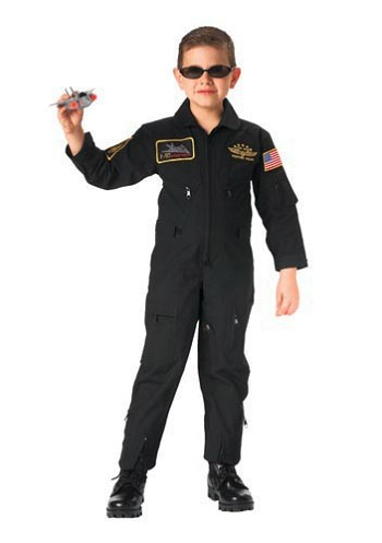 Kids Top Gun Flight Coveralls with Insignia Patches