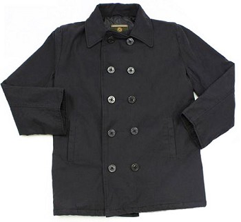 Cotton Canvas Vintage Peacoat