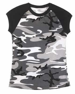 Womens 2-Tone Urban Camo T-Shirt