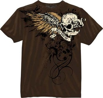 Vintage Chocolate Brown Airborne Death From Above T-shirt