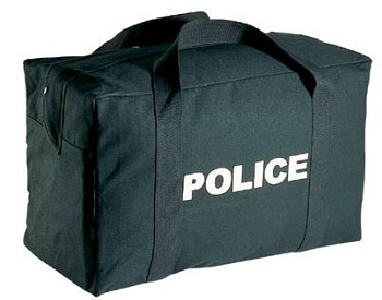 Police Logo Black Gear Bag