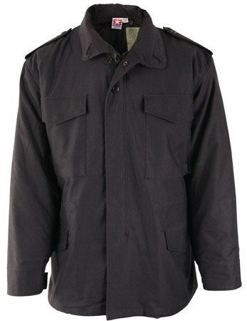 Black M-65 Field Jacket with Liner
