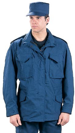 Navy Blue M-65 Field Jacket with liner