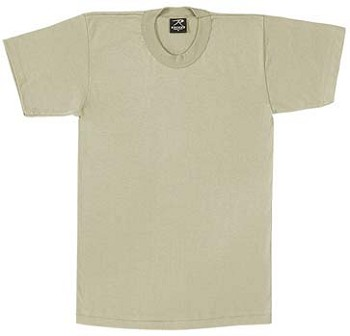 Desert Sand Military Moisture Wicking T-shirt