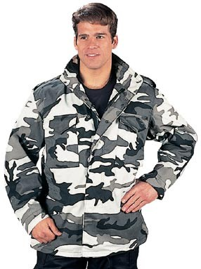 City Camo M-65 Army Field Jacket with Liner