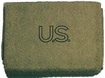 Olive Drab U.S. Made Virgin Wool Blanket