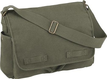 Classic Canvas Messenger Bag - Heavy Weight