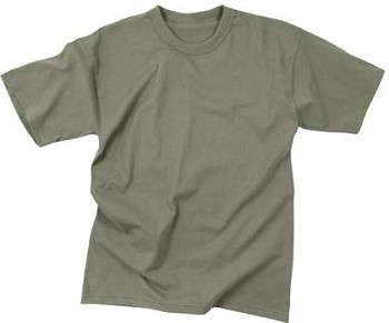 Foliage Green Military Moisture Wicking T-shirt