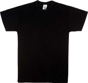 Black Military Moisture Wicking T-shirt
