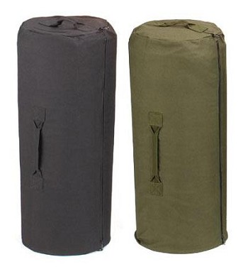 21 inch X 36 inch Zippered Military Duffle Bag