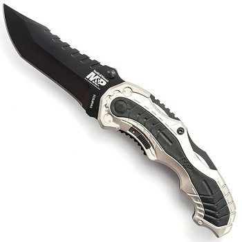 Smith and Wesson MP Plain Edge Assisted Open Knife - SWMP6CN