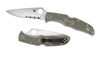 Spyderco Endura 4 Foliage Folding Pocket Knife with Combination Edge - C10PSFG