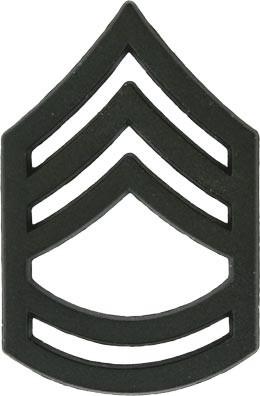 Black Metal Rank Sergeant 1st Class E 7 Military Insignia