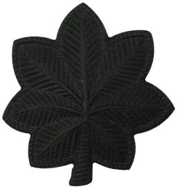 Black Metal Rank Lt Colonel Army Insignia