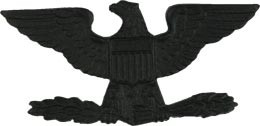 Black Metal Rank Colonel Army Insignia