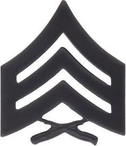 Sergeant Black Metal Military Insignia In Detroit