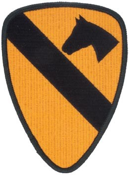 1st Cavalry Division Full Color Patch Army Patch